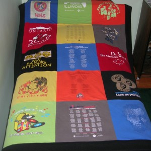 Large t-shirt lap quilt